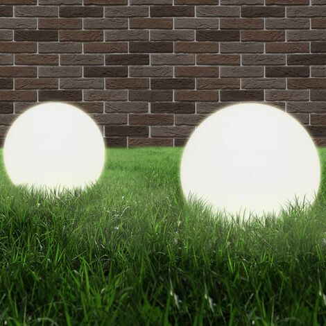 LED-Gartenleuchten 2 Stk. Kugelförmig 40 cm PMMA