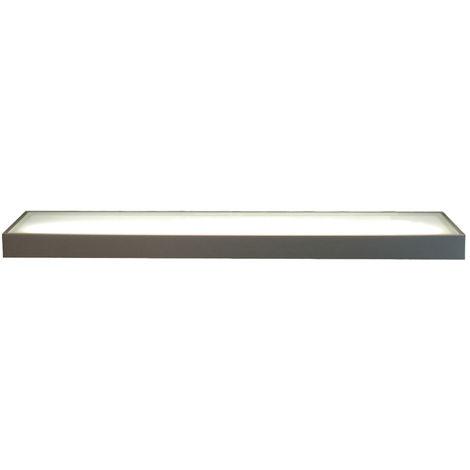 LED Glasbodenleuchte Edelstahloptik 900 mm