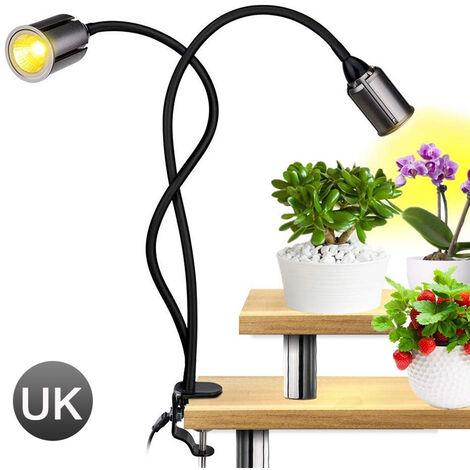 "main image of ""LED Grow Light for Indoor House Plants Lights 3/6/12H Timer COB Grow Lamp 75W Sunlike Full Spectrum 4-mode Brightness Adjustment,model:metal"""