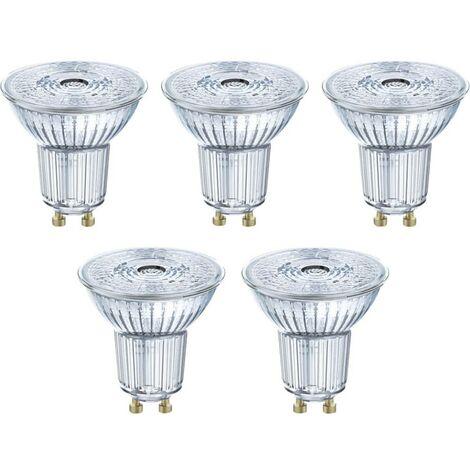 LED GU10 OSRAM 4058075090460 4.3 W = 50 W blanc chaud (Ø x L) 51 mm x 55 mm 5 pc(s)