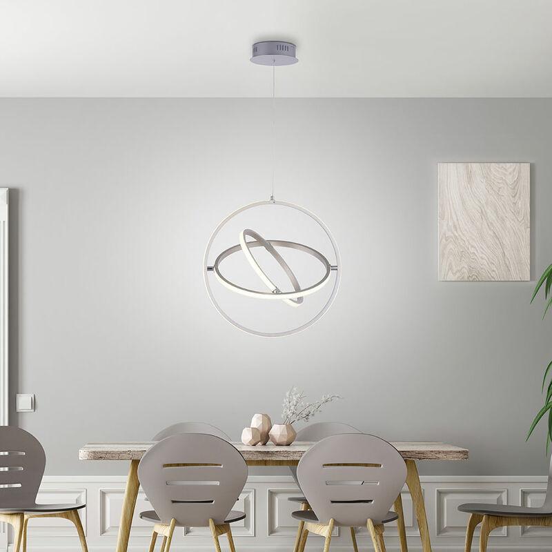 Leuchten Direkt - LED Hänge Leuchte Ring Design Decken Strahler Lampe beweglich Pendel dimmbar 11260-55