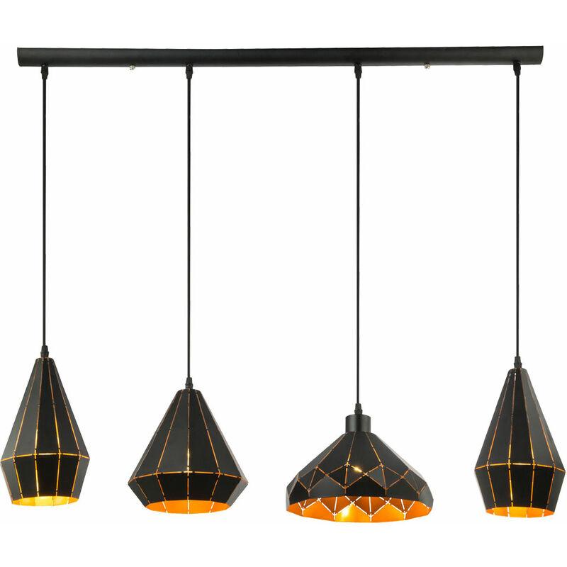 Etc-shop - Hänge Lampe Wohn Zimmer Pendel Decken Leuchte Design Schirme Strahler im Set inkl. LED Leuchtmittel