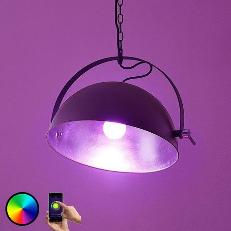 LED hanging light Muriel WiFi black/silver