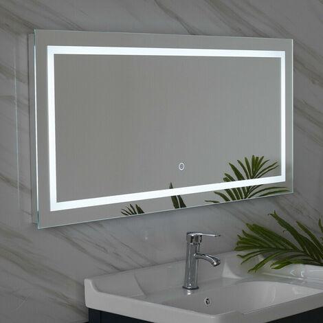 LED Illuminated Bathroom Hanging Wall Mirrors Lights Modern Makeup Vanity Mirror