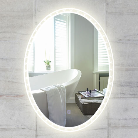 LED Illuminated Bathroom Mirror with 3 Colors LED Touch Control