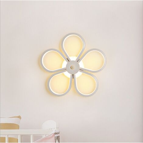 Led Indoor Wall Light Modern Wall Sconce Creative Flower Wall Lamp White for Bedroom Lounge Hallway Cafe Warm White