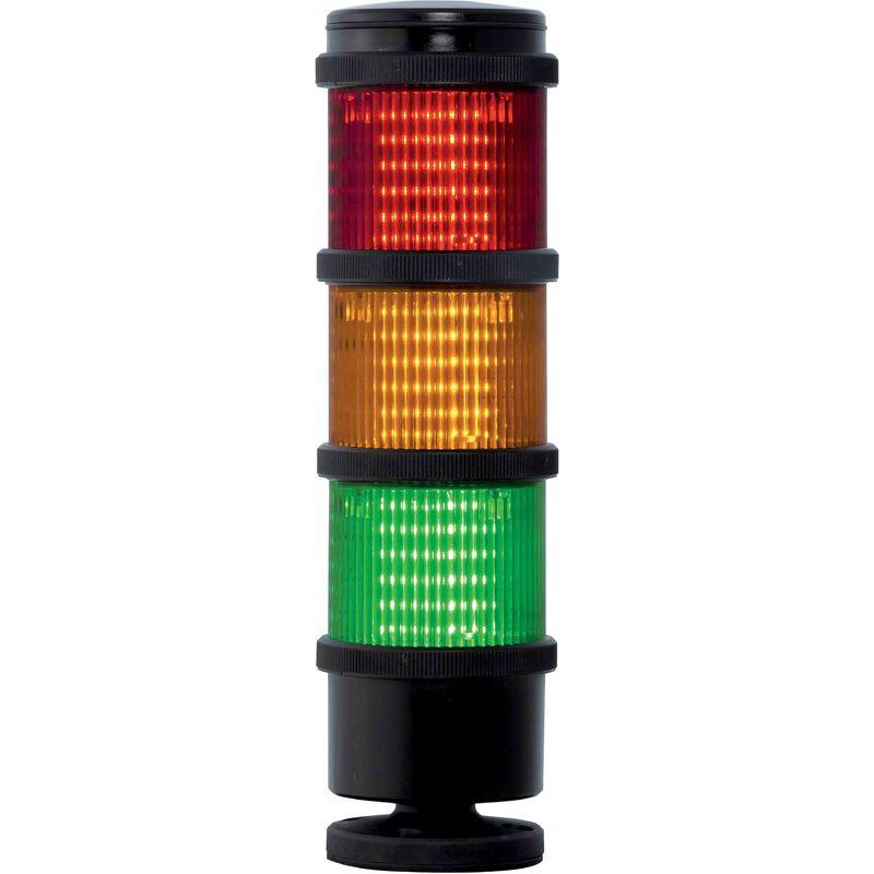 Colonne lumineuse à feu à éclats préconfigurée à LED Feu Flash, Fixe, Ambre, Vert, Rouge, 110 V c.a.