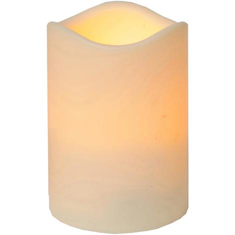 LED Kerze Außen (Kunststoff) 12,5x10cm + Timer flackernde flammenlose Kerzen Outdoor + Dämmerungssensor