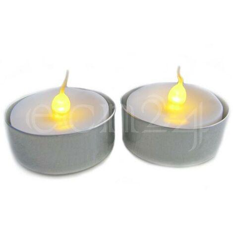 LED Kerze Teelicht mit flackerndem Licht 2er Set