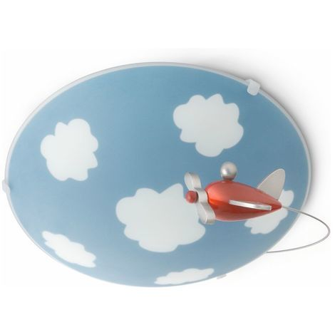 LED Kinderzimmer Deckenleuchte Sky, blau EEK A+ [Spektrum A++ bis E]