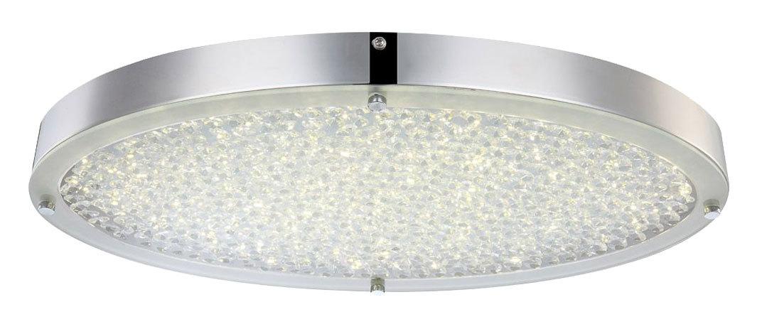 LED Deckenlampe Deckenleuchte Glas Kristalle Chrom D 45 cm Wohnzimmer Esszimmer Schlafzimmer
