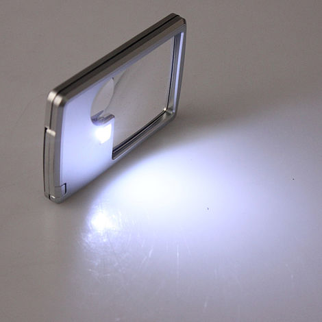 Led Lamp Magnifier 3X 6X Square Pr Repair Watch Jeweler Magnifier