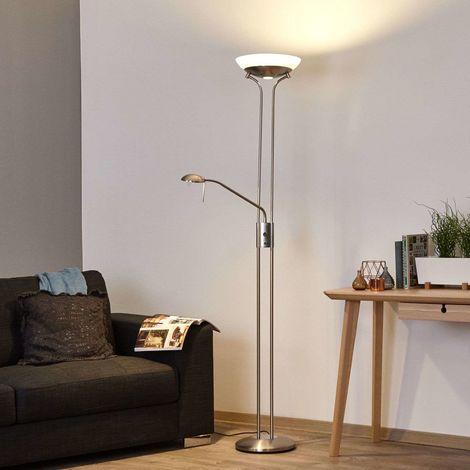 LED Lampadaire à intensité variable \'Denise\' en métal pour salon & salle à  manger