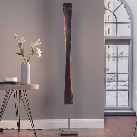 LED Lampadaire à intensité variable 'Lian' en aluminium pour salon & salle à manger