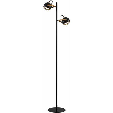 LED Lampadaire 'Dawid' en métal pour salon & salle à manger