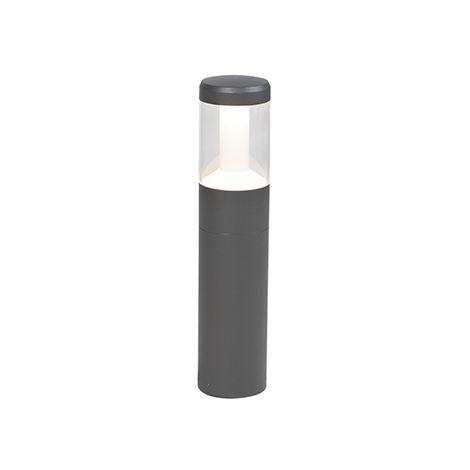 LED Lampadaire d'extérieur Moderne 50cm Graphite / Antracite / Gris Foncé - Imcus Qazqa Moderne Luminaire exterieur IP54 Cylindre / rond