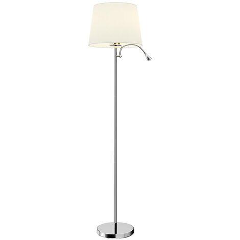 LED Lampadaire Tissu \'Benjiro\' en textile pour salon & salle ...