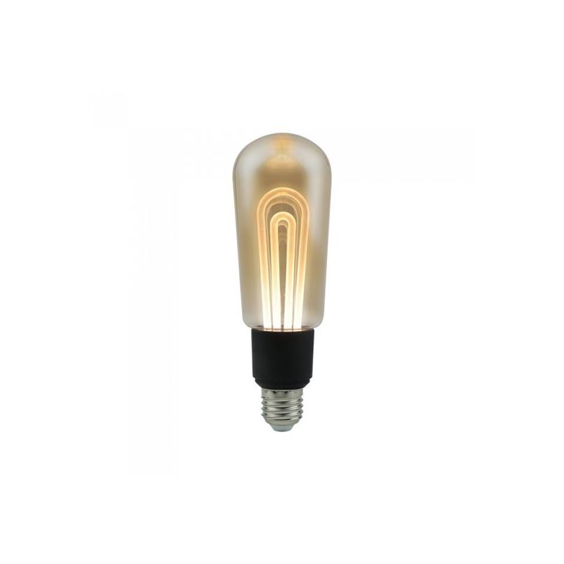 VT-2245 Lampada led tubolare 5W E27 T60 filamento lineare vetro ambra 2200K – sku 2749 - V-tac