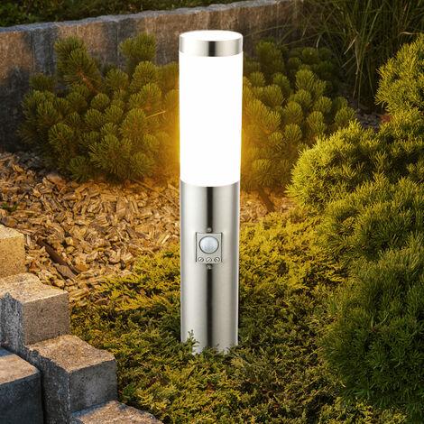 LED lámpara de la calle jardín piso al aire libre focos sensor de la lámpara del soporte de acero inoxidable Globo 3158SLED