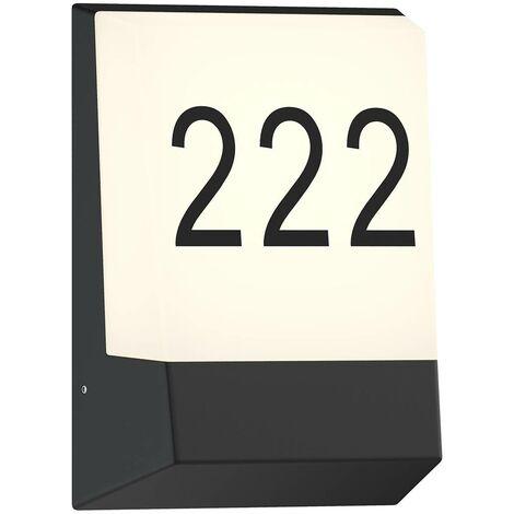 LED Lámpara de pared exterior 'Kosman' (Moderno) en Negro hecho de Aluminio (A+) de Lucande   lámpara para exterior, aplique para exteriores & jardín aplique para pared exterior/ fachada, para