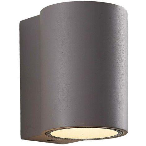 LED Lámpara de pared Led exterior 'Katalia' en Gris (1 llama, A+) de Lindby | lámparas de pared LED para exterior aplique, lámpara LED para exterior, aplique para pared exterior/fachada, vivienda