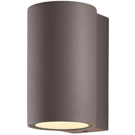 LED Lámpara de pared Led exterior 'Katalia' en Gris (2 llamas, A+) de Lindby | lámparas de pared LED para exterior aplique, lámpara LED para exterior, aplique para pared exterior/fachada, vivienda