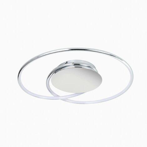 LED Lámpara de techo 'Joline' (Moderno) en Plateado hecho de Metal e.o. para Salón & Comedor (A+) de Lindby   lámpara LED, plafón LED, lámpara de techo