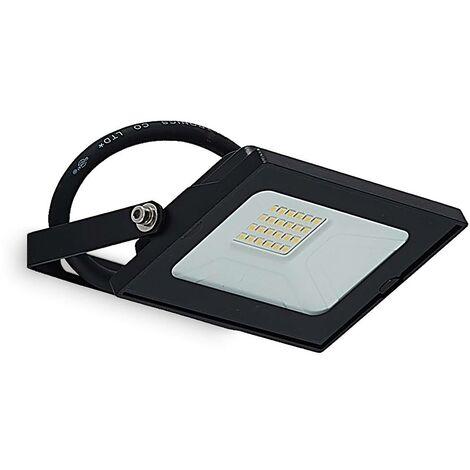LED Lámpara para exterior 'Aine' (Moderno) en Negro hecho de Aluminio (1 llama, A+) de Lindby   foco LED para exterior exterior, foco, lámpara de exterior para el jardín, la terraza, el balcón y la