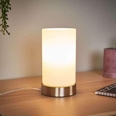 LED Lampe a poser 'Levka' en verre pour salon & salle à manger