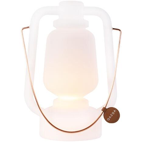 LED Lampe de table rechargeable 30 cm IP44 blanc - Storm Small Qazqa Design, Moderne Luminaire avec variateur exterieur IP44 Rond