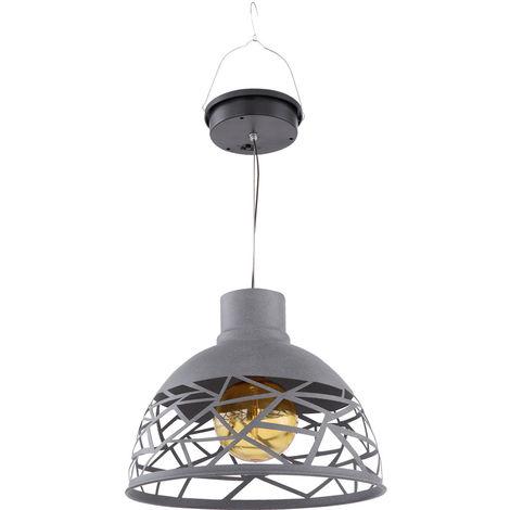LED lampe suspendue solaire plafond pendentif spot extérieur ambre jardin terrasse balcon lampe Globo 33636