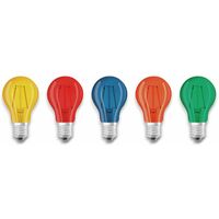 LED Lampen Set OSRAM BASE DECOR , E27, EEK: A, 2 W, 136 lm, farbig 5-teilig