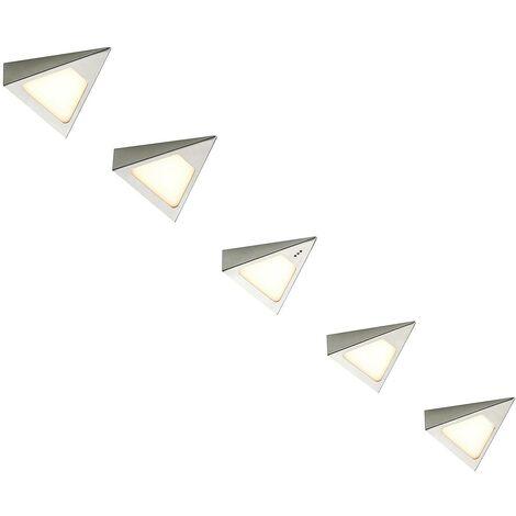 LED Lampes sous meuble à intensité variable 'Odia' en inox pour salon & salle à manger