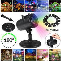 LED Laserlicht Projektor für Innen+Außenbereiche - 48 Motive