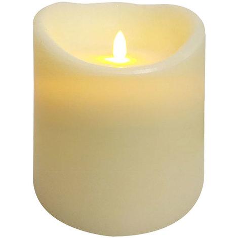 LED Leuchtkerze aus Wachs in Elfenbein ANDREA 15
