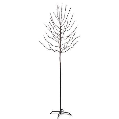 LED Lichter-Baum 180cm oder 220cm warm-weiß Weihnachts-Beleuchtung für Innen & Außen