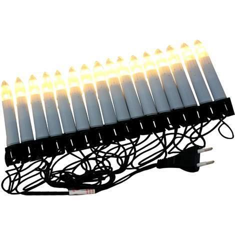 LED Lichterkette 16 Kerzen 4,5 m warm-weiss für innen