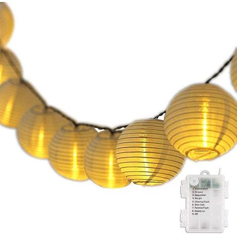 LED Lichterkette Lampion Innen Außen Weihnachtsbeleuchtung Batteriebetrieb