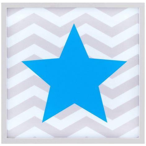 LED Light Box, Blue Star, MDF / PS - Polystyrene