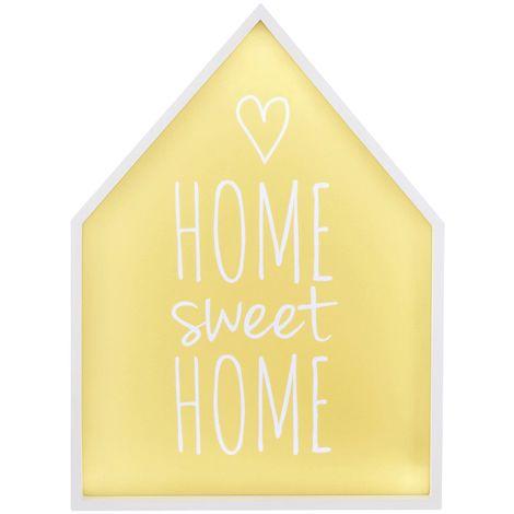 LED Light Box, Home Sweet Home, MDF / PS - Polystyrene
