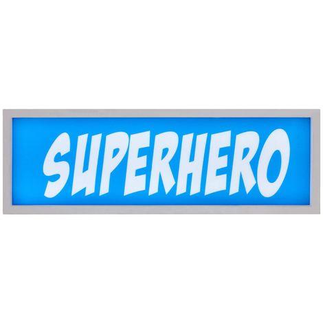 LED Light Box, Superhero, MDF / PS - Polystyrene