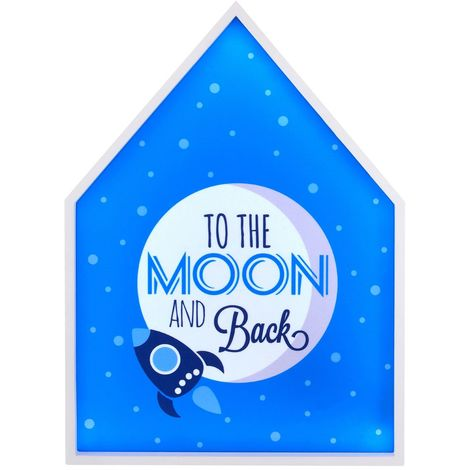 LED Light Box, To The Moon & Back, MDF / PS - Polystyrene