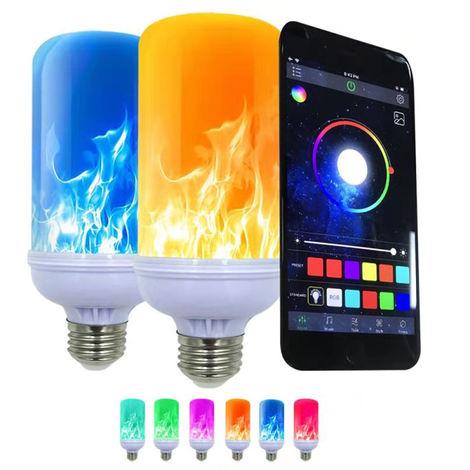 LED Light Bulb Flame-Effect Fire E27