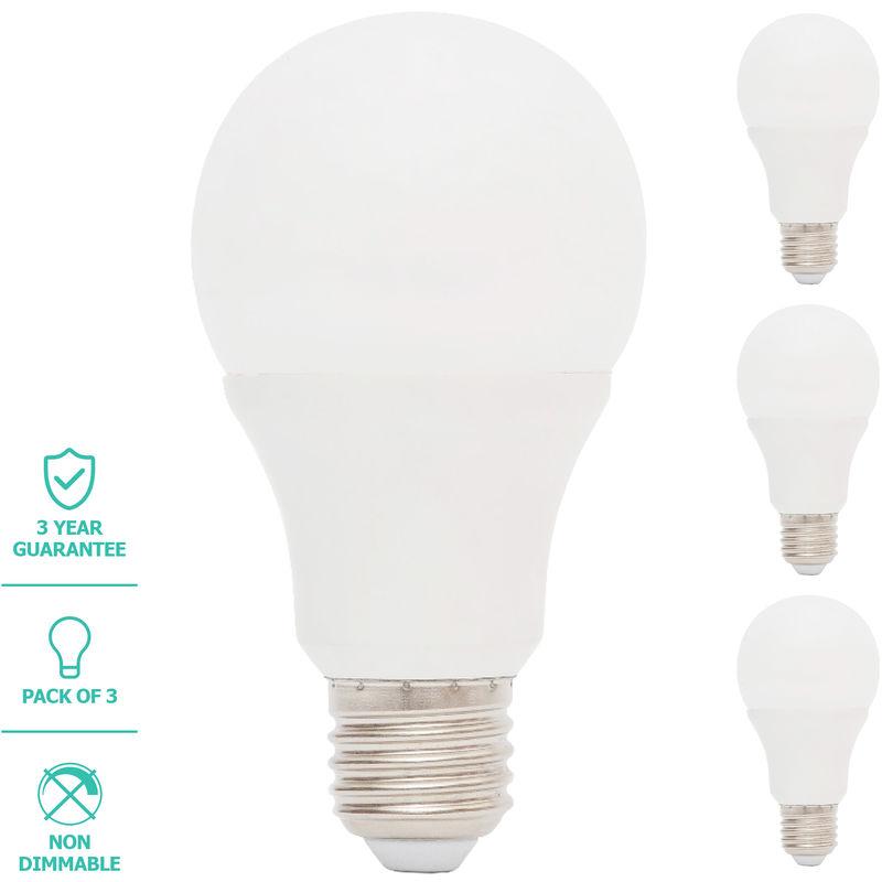 Image of Liteway LED Light Bulb, GLS, E27/ES, 7W, 3 Pack