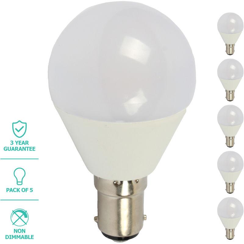 Image of Liteway LED Light Bulb, Golf Ball, B15, 5W, 5 Pack
