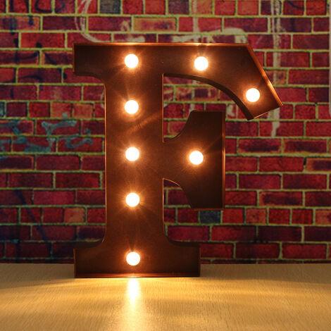 LED Light Lighting Lamp Old 12 Inch Alphabet Wall Art