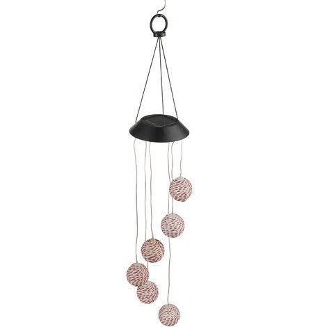 LED Light Solar Light Wind Chime Color Changing Garden Hanging Lamp Rattan Ball