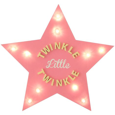 LED Light Star, Twinkle Twinkle, MDF / PS - Polystyrene