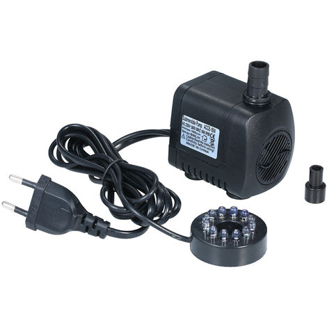 LED Light Submersible Pump 800L/H Ultra-Quiet Pond Pool Water Fountain Pump