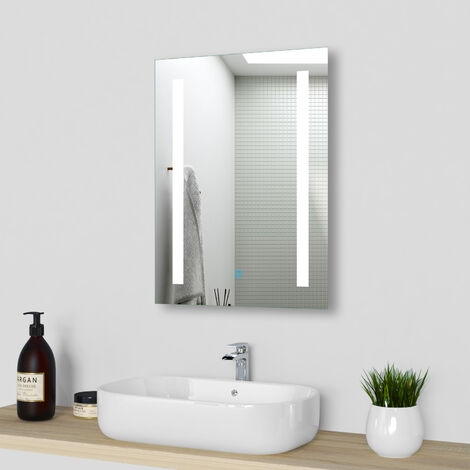 LED Light Up Bathroom Wall Mirror with Demister Pad Optional IP44 Rated,Vertically or Horizontally